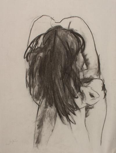 55 x 60 cm, fusain, 1999