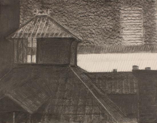 50 x 65 cm, fusain, 1990