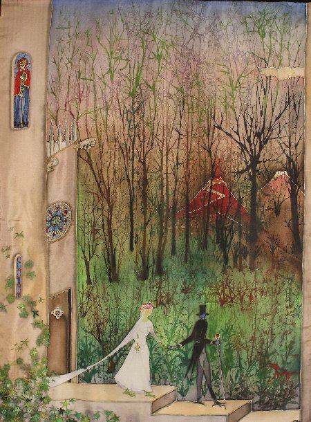 90 x 45 cm, peinture sur soie, 1986