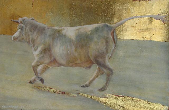 33 x 41 cm, huile et feuille d''or, 2002