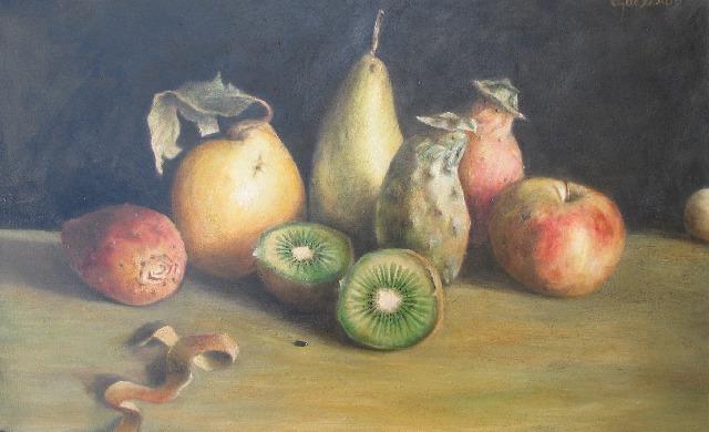 32,5 x 61 cm, huile, 2001