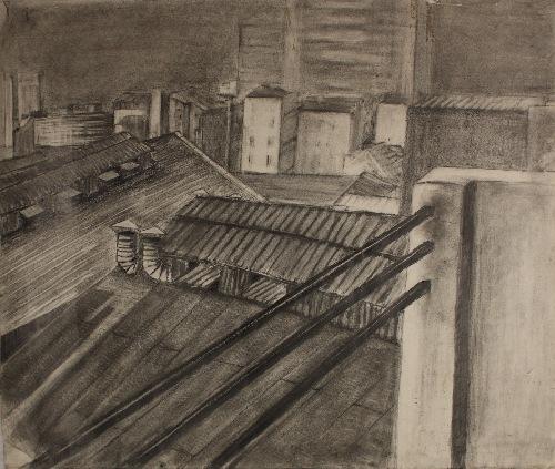 80 x 60 cm, mine de plomb, 1990